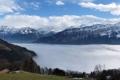 Картинка облака, горы, Природа