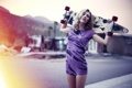 Картинка девушки, модель, блондинки, Rachel Ann Yampolsky, Longboard