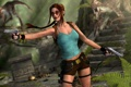 Картинка девушка, рендеринг, пистолеты, джунгли, очки, коса, динозавры