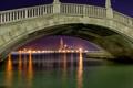 Картинка вода, ночь, мост, город, огни, отражение