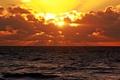 Картинка море, солнце, облака, закат, горизонт