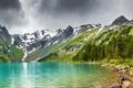 Картинка вода, горы, озеро, камни, фото, берег, пейзажи