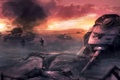 Картинка поле, война, вечер, war, танки, Battle of Kursk, курск