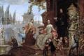 Картинка картина, жанровая, Ян ван Кессель младший, Семья в Саду