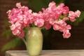 Картинка цветы, стол, розовый, букет, кувшин