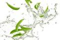 Картинка капли, pods, фасоль, стручковая, drops, vegetable, вода