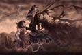 Картинка гроза, тучи, ведьма, пастушка