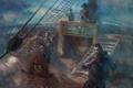 Картинка шторм, дождь, корабль, Commander, матросы, Conquest of the Americas