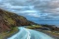 Картинка облака, The Long Curvy Road Around Iceland, дорога