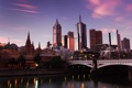 Картинка закат, австралия, мельбурн