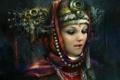 Картинка принцесса, арт, девушка, лицо, украшения