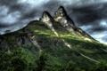 Картинка небо, тучи, скалы, гора