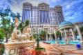 Картинка облака, бассейн, колонна, беседка, казино, Лас Вегас, скульптура