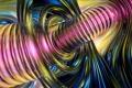 Картинка волны, абстракция, цвет, спираль