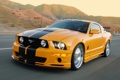 Картинка горы, оранжевый, скорость, Mustang, Ford, мустанг, форд