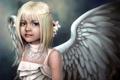 Картинка арт, крылья, девочка, диадема, ангел
