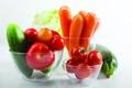 Картинка морковь, кабачок, помидоры, Овощи