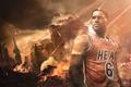 Картинка Майами, Спорт, Лицо, Баскетбол, Miami, NBA, LeBron James