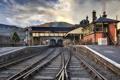 Картинка дорога, город, станция, Llangollen Railway Station