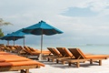 Картинка море, пляж, природа, тропики, зонтики