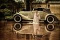 Картинка авто, девушка, отражение
