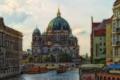 Картинка город, река, здания, Германия, Берлин