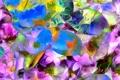 Картинка линии, природа, лепестки, краски, рендеринг, цветы