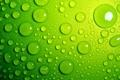 Картинка вода, капли, фон, зелёные