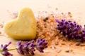 Картинка сердце, мыло, heart, soap, спа, lavender, соль