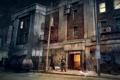 Картинка машина, ночь, здание, человек, Call of Juarez, охранник, The Cartel