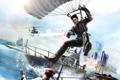 Картинка прыжок, лодка, вертолет, мужчина, helicopter, Парашют, Rico Rodriguez