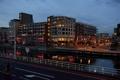 Картинка ночь, город, река, фото, дома, Нидерланды, Alkmaar