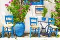 Картинка город, blue, chairs, Greece