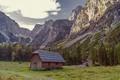 Картинка природа, горы, хижина, дом