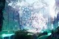 Картинка девушка, цветы, природа, дерево, механизм, аниме, арт