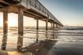 Картинка пляж, океан, пирс, Texas, Port Aransas