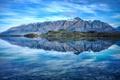 Картинка небо, снег, горы, озеро