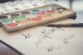 Картинка цвета, текст, надпись, краски, кисти, кисточки