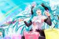 Картинка девушка, радость, краски, зонт, vocaloid, hatsune miku, чиби