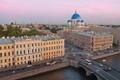 Картинка город, Санкт-Петербург, собор, набережная, с крыши, троицкий