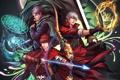 Картинка магия, свечение, меч, sword, magic, anime, Dante