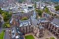 Картинка дома, улицы, вид сверху, Великобритания, Glasgow University, архитектура