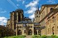 Картинка газон, Trier, собор, двор, кусты, Германия, башни
