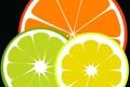 Картинка фрукты, лайм, апельсин, лимон, цитрус