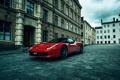 Картинка City, Ferrari, Red, 458, Street, Italia, Performance