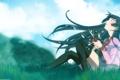 Картинка небо, ножницы, истории монстров, Bakemonogatari, Хитаги Сэндзёгахара