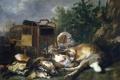 Картинка Ян Фейт, жанровая, Сторожащая Охотничьи Трофеи, Собака, картина
