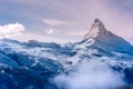 Картинка зима, лес, небо, облака, горы, природа, позитив