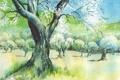 Картинка пейзаж, дерево, картина