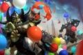Картинка шарики, страх, ситуация, армия, арт, воздушные, орки